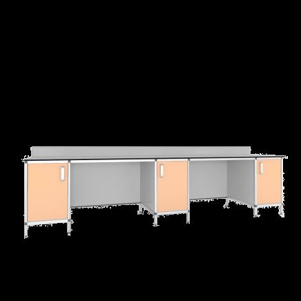Стол лабораторный 3-х тумбовый СМТ-3000КН/СЛТ-3000КН