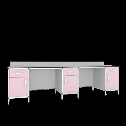 Стол лабораторный 3-х тумбовый СМТ1-2700КН/СЛТ1-2700КН