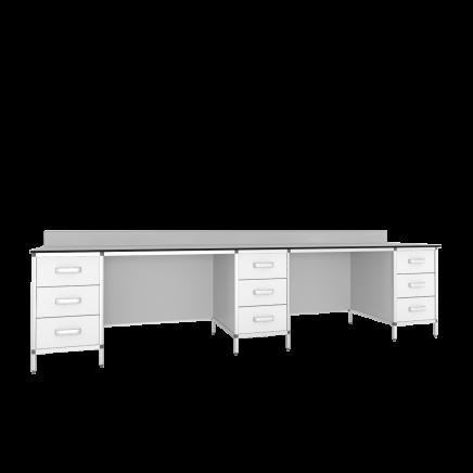 Стол лабораторный 3-х тумбовый СМТ2-3000КН/СЛТ2-3000КН