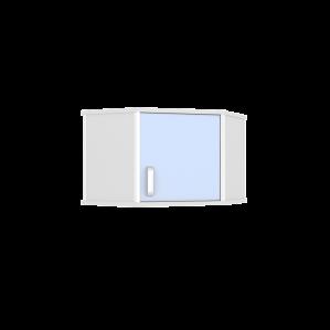 Шкаф медицинский навесной угловой ШНУ-1К