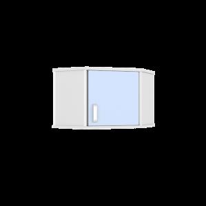 Шкаф медицинский навесной угловой ШНУ-1КВ