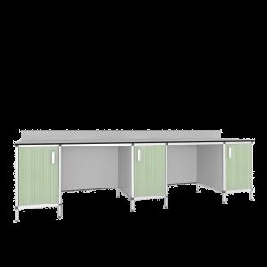 Стол лабораторный 3-х тумбовый СМТ-2700КН/СЛТ-2700КН