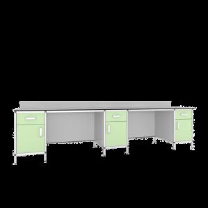 Стол лабораторный 3-х тумбовый СМТ1-3000КН/СЛТ1-3000КН