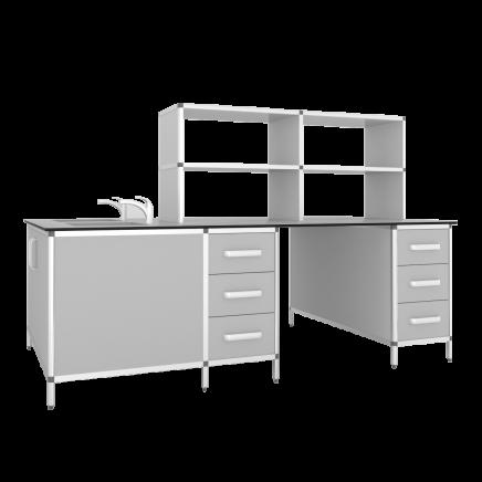 Стол лабораторный островной СЛО-2КН